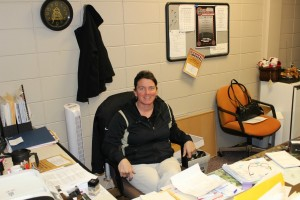 Mrs. Sue Condon, athletic secretary