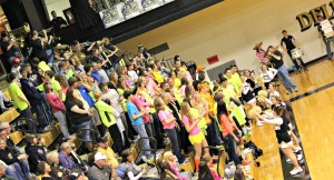 Delphi's cheer block has created a hostile environment for all opposing teams.