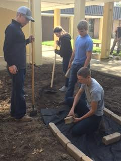 Courtyard Beautification Project underway