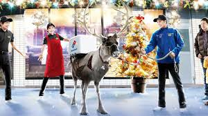 Domino's training reindeer to deliver pizzas in time for Christmas
