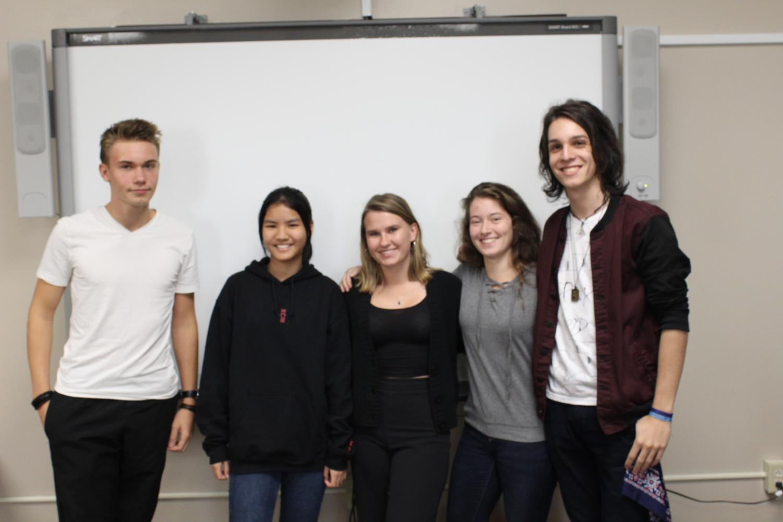 From left: Dennis Lucht, Germany; Buddharaksa  Phatcharasaksakol, Thailand; Kasia Wojcik, Poland; Jala Schanz, Germany; and Bernardo Ribas-Everling, Brazil.