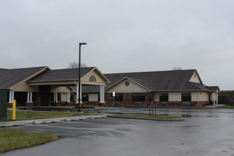 The entrance to the new assisted living facility of St. Elizabeth is shown. After 14 months since breaking ground, the addition is finally complete, and is ready to begin moving residents in.