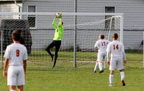 Ethan Randle making waves in goal