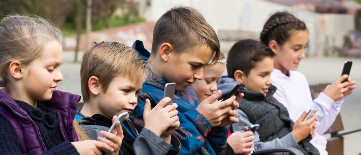 Children are being exposed to smartphones at increasingly young ages.