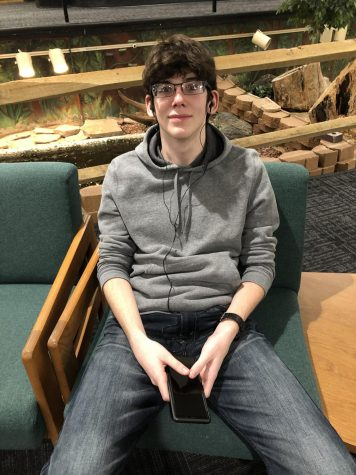 Noah Gottshall is one of the many students at DCHS who listens to podcasts.