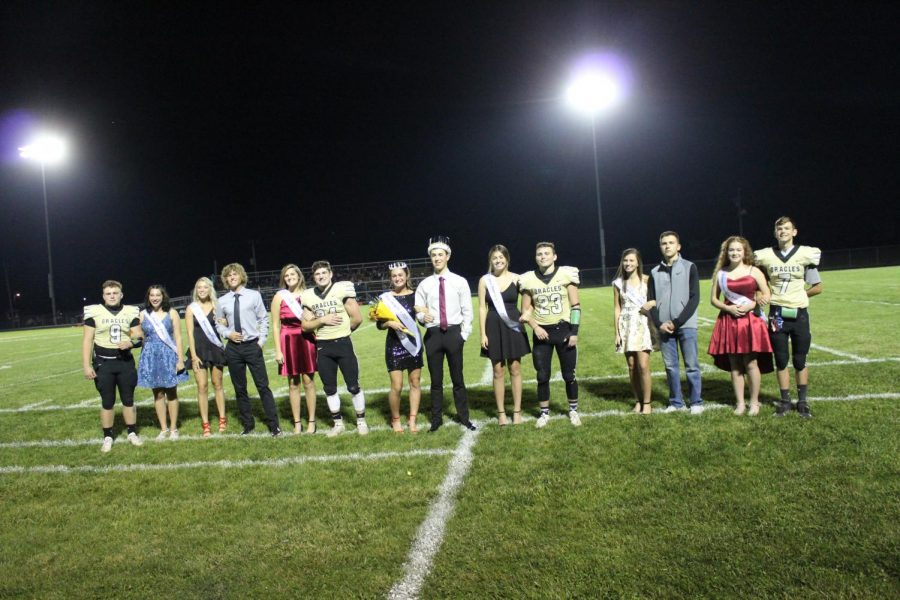 Delphi wins homecoming game; Marilyn Berto honored