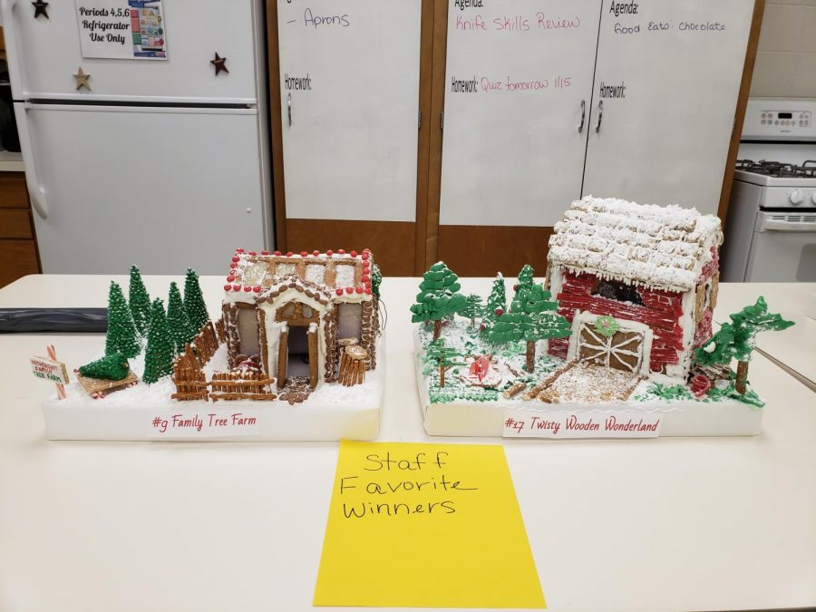 Gingerbread house competition winners chosen