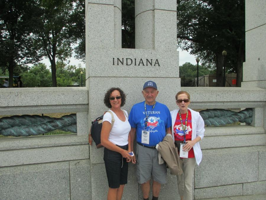 Mrs. Israel and her father and sister shared a special day together in Washington D.C. The trip was part of the Honor Flight program.