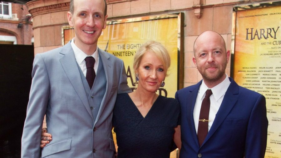 From left to right: Jack Thorne, J.K. Rowling, and John Tiffany