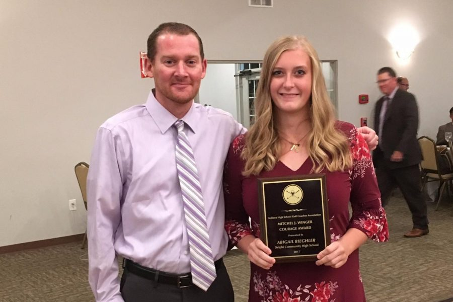 Delphi junior receives statewide honor for courage in sports