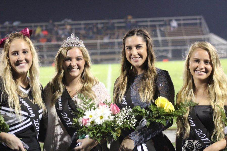 Pictured are (left to right): princess Tori Nacke, queen Holly Cosgray,  princess Taylor Kantz, and princess Taylor Bartlett. Picture taken by Michael O'neil.