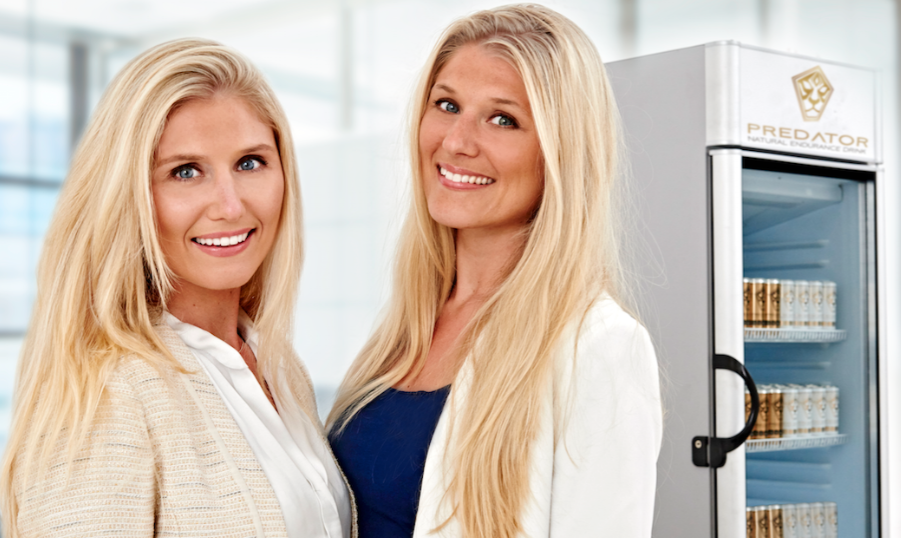 Natasha, left, and her sister Bianca are both co-founders of the Dutch endurance drink, Predator. Predator has started its journey to the U.S. recently.