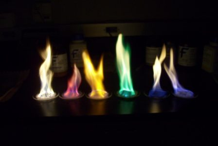 Chemistry class does a fiery lab