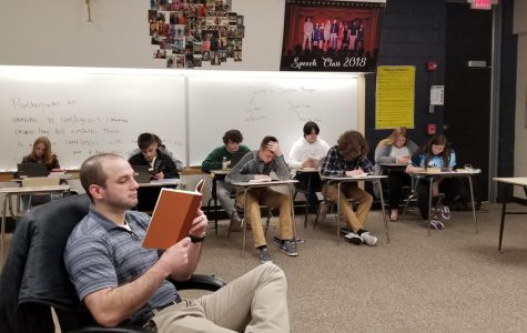 Mr. Mroczkiewicz' English Classes Begin Winter Book Project
