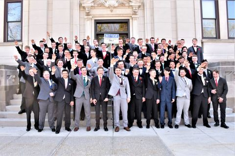 Boys from Baraboo High School pose with a Nazi salute. The image went viral, and was highly controversial.