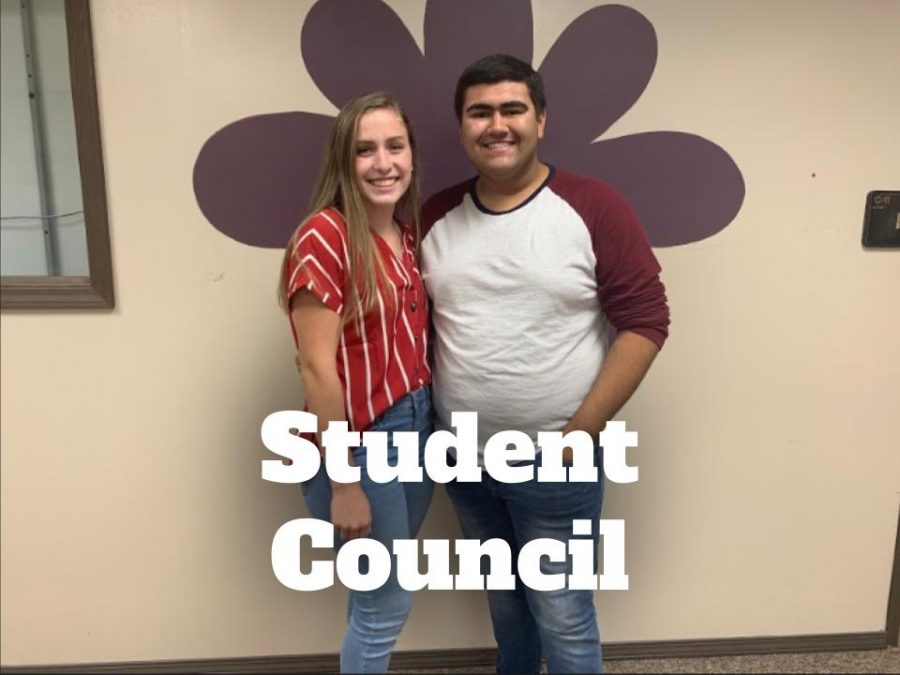 Senior class co-presidents Jordyn Gasser and Angel Prince pose for a picture. Student Council members are the representatives for the student body to the school administrators.