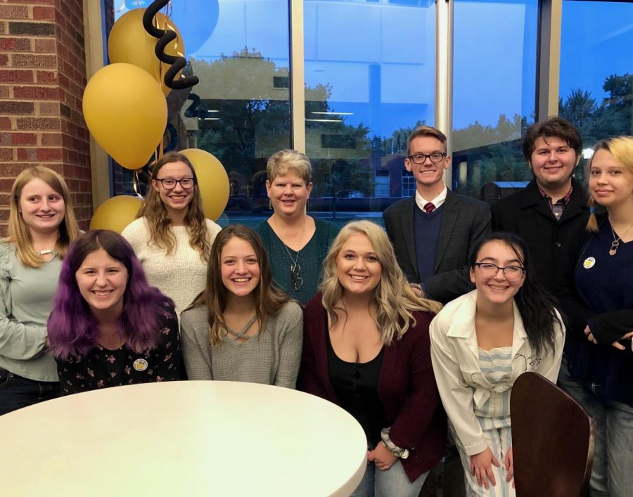 French Club students dressed up for a formal dining experience at Purdues John Purdue Hall.