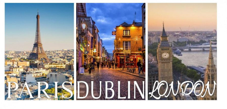 Paris, Dublin, and London are the three main cities DCHS students will get to travel to if they go on the Spring Break field trip. Going to Europe will provide the students with a unique experience that not many have had before.