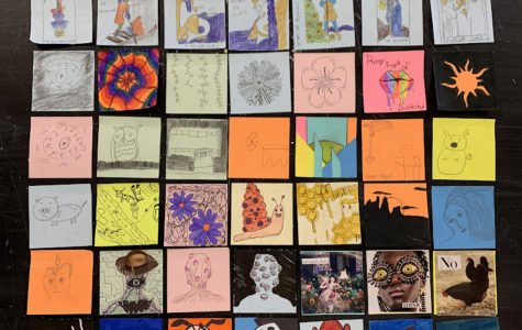 Art class's sticky notes to Indianapolis Art Museum