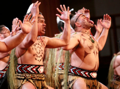 Maori performers displaying the haka