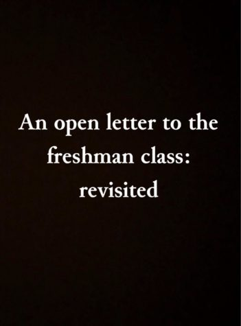 An open letter to the freshman class