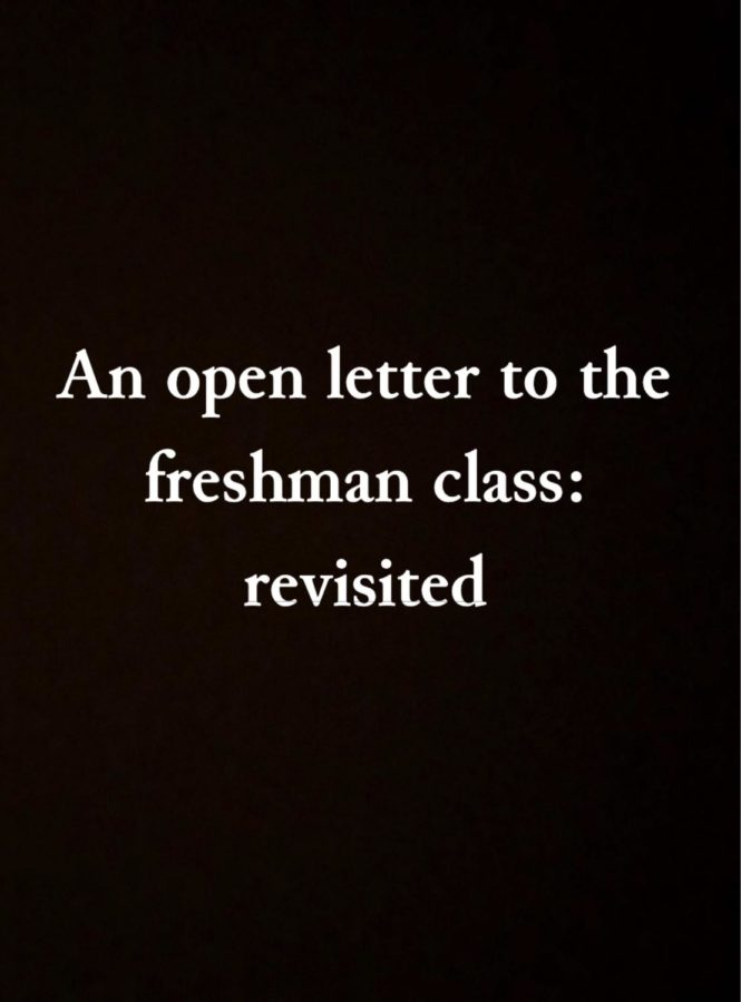 An open letter to the freshman class