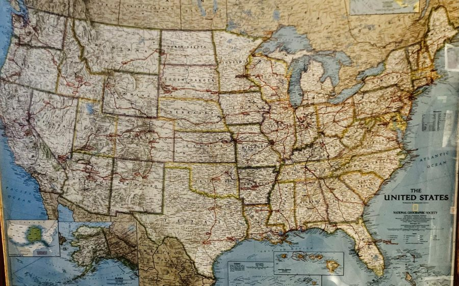 Hudson family map of United States